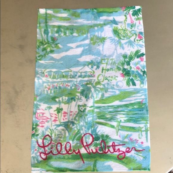 87995339f4e397 Lilly Pulitzer Accessories - NWOT Lilly Pulitzer Honda Classic Golf Towel